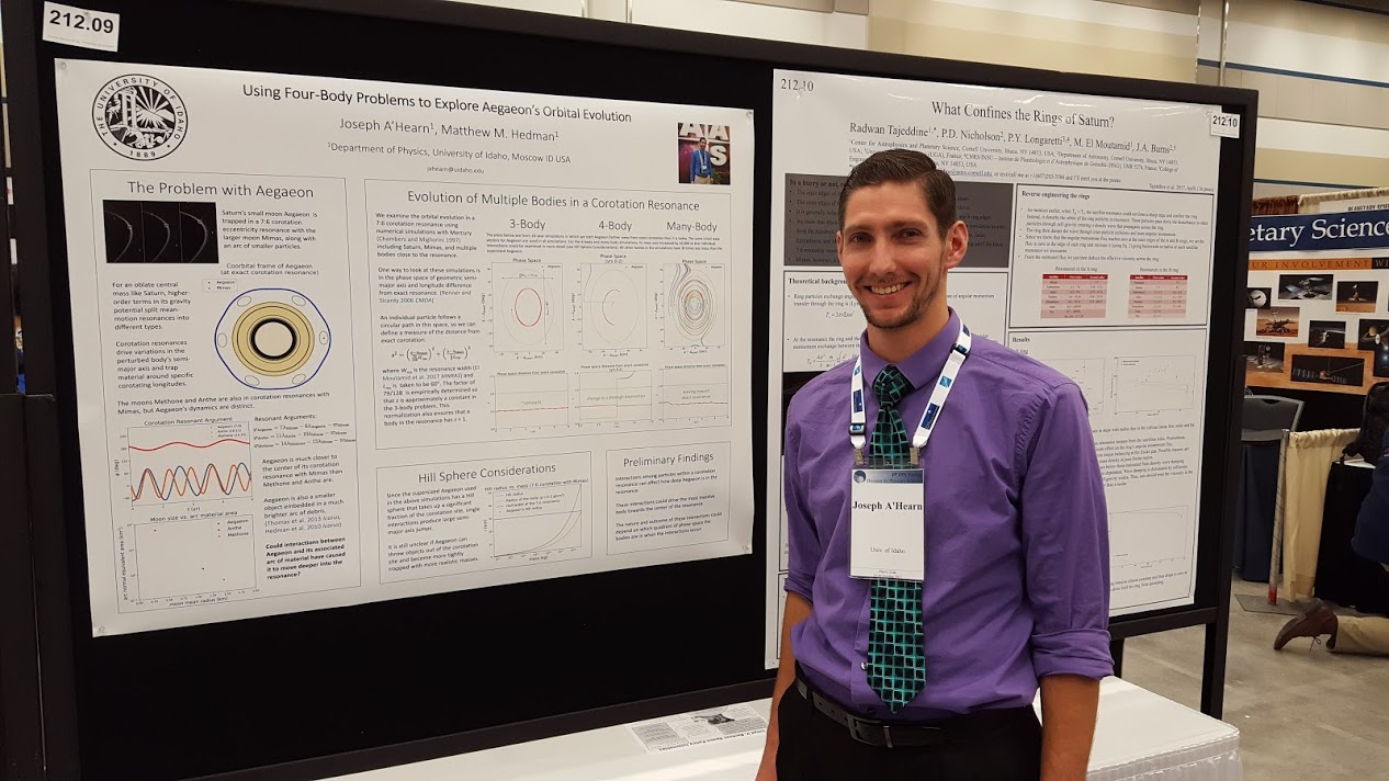 Presenting My Research Poster at the DPS Meeting